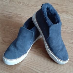 TOMS Suede Slip on Ankle Booties Gray Size 9